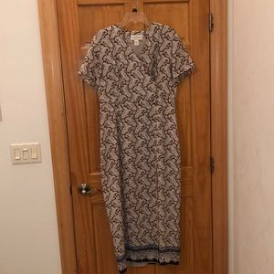 Paisley summer wrap dress